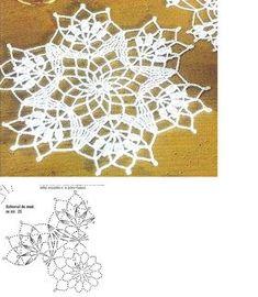 Free Crochet Doily Patterns, Crochet Snowflake Pattern, Crochet Doily Diagram, Crochet Lace Edging, Crochet Motifs, Crochet Snowflakes, Crochet Round, Crochet Squares, Crochet Home