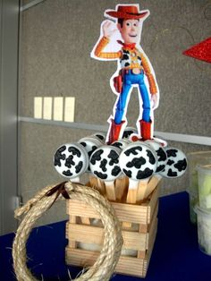 Toy Story Birthday Party Ideas Photo 1 of 13 Catch My Party Woody Birthday Parties, Woody Party, Toy Story Birthday, Toy Story Baby, Jessie Toy Story, Toy Story Theme, Toy Story Centerpieces, Festa Toy Store, Cumple Toy Story