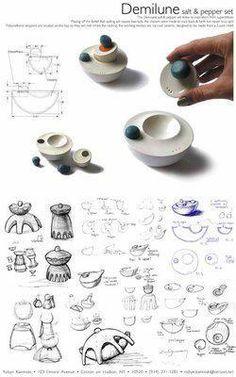 DEMILUNE salt & pepper set | Pratt Talent