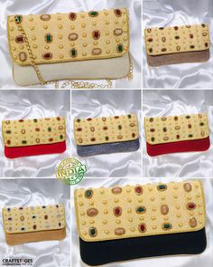 Craftstages International presents Latest collections designer ethnic clutches. We also make and customize the design as per the customer requirements, in addition we are based in India, Dubai and New Zealand and as well as we are one of the India's largest manufacturer, exporter, importer and bulk supplier of ladies designer bags, clutches, potli bags, box clutches, sling bags etc. For bulk orders and queries please Call/WhatsApp at +91-9625587736, +91-8130018901, +91-9911976001 or email us at Potli Bags, Sling Bags, Designer Bags, Clutches, Dubai, Ethnic, Presents, Collections, India