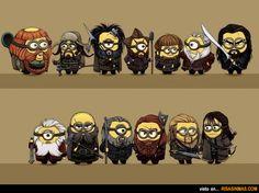 Los enanos de El Hobbit como Minions