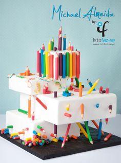 Rainbow Pencils - Cake by Michael Almeida - CakesDecor
