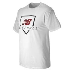 New Balance 559 Men's Baseball Digiplate Tee - White/Grey/Red (TMMT559WT)