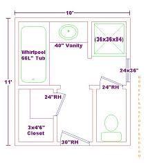Master Bathroom Design Layout Fullmaster Bath X Free Floor Plan