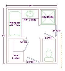 Standard 9ft x 7ft master bathroom floor plan with bath for Bathroom design 9x9