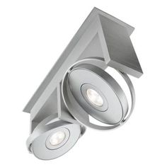 Philips Orbit 2-Light Integrated Semi Flush Brushed Nickel Ceiling LED Track Lighting Fixture-531524848 - The Home Depot