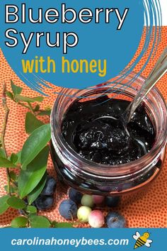 Blueberry Syrup, Blueberry Juice, Blueberry Bushes, Cooking With Honey, Eating Raw, Healthy Eating, Types Of Fruit, Processed Sugar, Honey Recipes