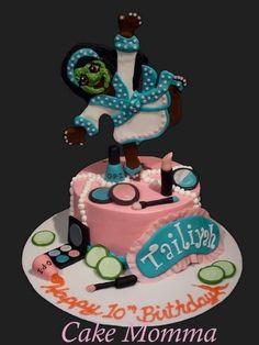 Spa Party Cake Spa Party Cakes, Spa Party Foods, Spa Cake, Spa Sleepover Party, Spa Birthday Parties, Birthday Cakes, Pretty Cakes, Beautiful Cakes, Amazing Cakes