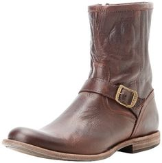 "FRYE Men's Phillip Inside Zip Boot FRYE. $277.95. Shaft measures approximately 8.25"" from arch. Heel measures approximately 1."". Leather sole. leather. Decorative buckle"