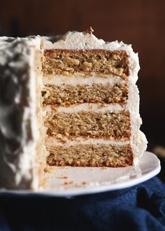 Pistachio Layer Cake with Honey Buttercream // The Tart Tart