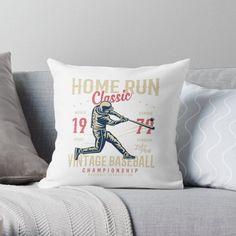 Vintage Baseball Pillows & Cushions   Redbubble Daybed Pillows, Cushions, Throw Pillows, Baseball, Classic, Vintage, Design, Derby