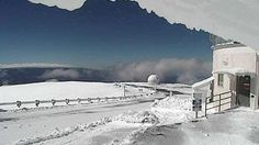 Snow on Mauna Kea - Mauna Kea Weather Center, East Asian Observatory