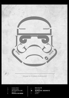 Star Wars: The Force Awakens typography VII Stormtrooper - made by Andreas Bazylewski