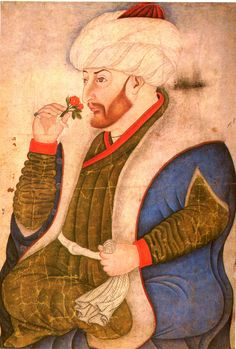 Sultan Mehmed II, from the Sarayı Albums, Hazine 2153, folio 10a, end of 15th century (missfolly)