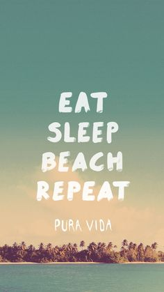 Eat, sleep, beach, repeat! ❤️