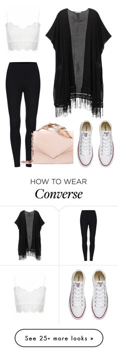 """Untitled #291"" by ipinkiee on Polyvore featuring Victoria's Secret, Topshop, Converse and RALPH & RUSSO"
