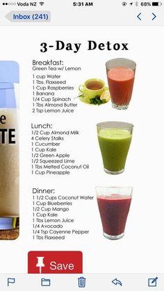 Smoothie Detox Plan, Detox Diet Drinks, Detox Smoothies, Natural Detox Drinks, Healthy Juice Recipes, Fat Burning Detox Drinks, Healthy Detox, Healthy Juices, Healthy Drinks