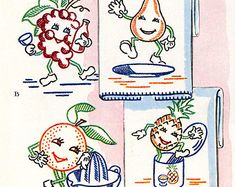 Vintage Hand Embroidery Quilt PATTERN 3132 Dancing by BlondiesSpot