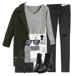 """""""Untitled #3254"""" by peachv ❤ liked on Polyvore featuring Selfridges, rag & bone, Tory Burch, Topshop, Forever 21 and Bobbi Brown Cosmetics"""