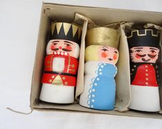 Vintage German Candlesticks-Xmas~Right up my alley! I have a nutcracker collection...I LOVE them