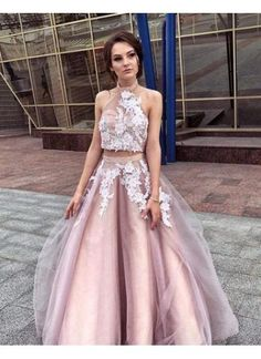 Sale Colorful Pink Prom Dress A-line Prom Dress,Appliques Prom Dresses,Long Prom Dress,Tulle Prom Gown,Pink Prom Dresses Two Piece Evening Dresses, Sexy Evening Dress, Lace Evening Dresses, Prom Dresses With Sleeves, A Line Prom Dresses, Beautiful Prom Dresses, Formal Dresses, Grad Dresses, Dress Prom