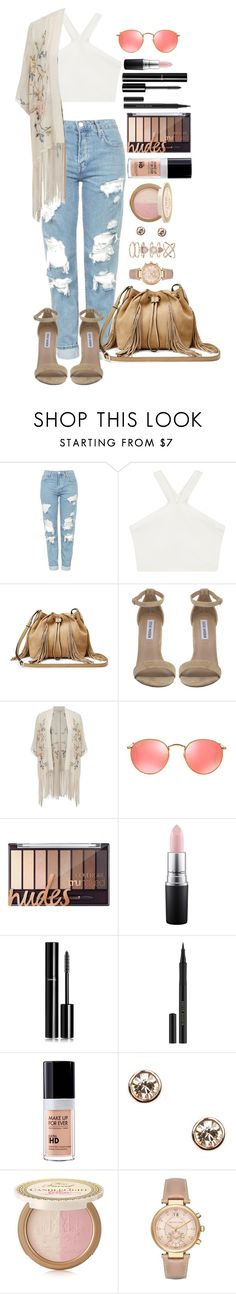 """Untitled #1517"" by fabianarveloc on Polyvore featuring Topshop, BCBGMAXAZRIA, Diane Von Furstenberg, Steve Madden, Miss Selfridge, Ray-Ban, MAC Cosmetics, Chanel, Kevyn Aucoin and MAKE UP FOR EVER"