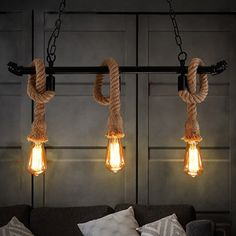 140.80$  Buy here - http://alimi7.worldwells.pw/go.php?t=32767181530 - Vintage rope wrought wall lamp aisle lights,E27 110V-220V loft Black iron pipe wall lamp edison incandescent light bulb bar cafe