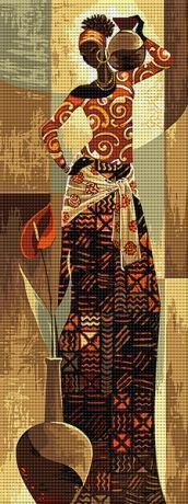 Africana                                                                                                                                                                                 Más Funny Cross Stitch Patterns, Cross Stitch Borders, Cross Stitch Kits, Cross Stitch Designs, Cross Stitching, Crewel Embroidery, Cross Stitch Embroidery, Embroidery Patterns, Crochet Mat