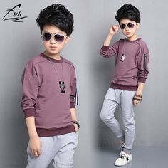Good price Boys Clothes Big Boy's Long Sleeve Letter Printed T-shirt Kids' Casual Style Sports Tee Teenager School Boy's  5-15 Years just only $10.90 with free shipping worldwide  #boysclothing Plese click on picture to see our special price for you