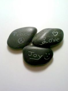 Engraved Rocks Personalized Stones ONE by DeerwoodCreekGifts, $18.00