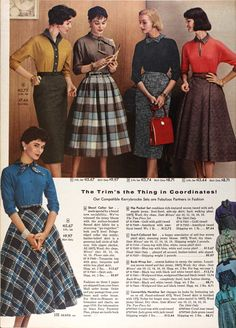 It'll Take The Snap Out Of Your Garters!: 1957 Fashions -- IN COLOUR!