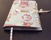 Handmade book cover. Stylish & re-usable. Ideal gift for Christmas. Dress your book for Christmas!