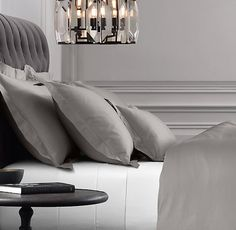 Italian Vintage-Washed 600-Thread-Count Sateen Bedding Collection***