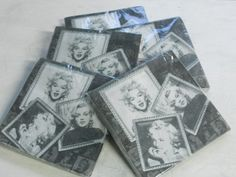 20 Paper napkins 'Marilyn Monroe in Frame'' 2ply party by LENALIX