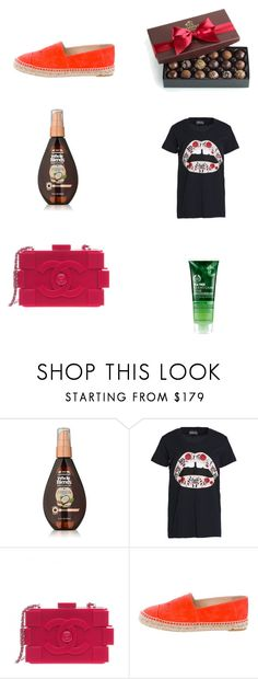 """pls like if u are going to use an item from my set"" by alaa88 ❤ liked on Polyvore featuring Garnier, Markus Lupfer, The Body Shop and Chanel"