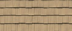 "Cedar Impressions® Double 9"" Staggered Rough-Split Shakes - Shake & Shingle Siding - Vinyl Siding & Polymer Shakes - CertainTeed  Buckskin"