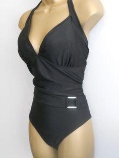 b80639595e LADIES BLACK NEXT WRAPOVER HALTERNECK SWIMSUIT SIZE 20 CONTROL SWIMWEAR  #fashion #clothing #shoes #accessories #womensclothing #swimwear (ebay link)
