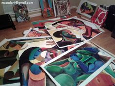 My paintings in my studio