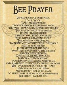 Bee Prayer Parchment Page for Book of Shadows Page! pagan wicca witch