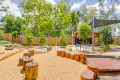 log surfaces to jump between Outdoor Learning Spaces, Outdoor Spaces, Outdoor Decor, Playground Design, Playground Ideas, Natural Play Spaces, Outdoor Classroom, Backyard For Kids, Outdoor Furniture Sets