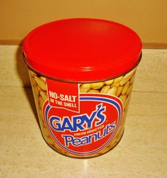 Gary's Fresh Roasted No-Salt In The Shell Peanuts tin, Cincinnati, Ohio