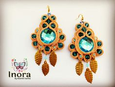 Soutache earrings from Inora…#soutache #earrings #green #cabochon #leaf #charms #blue #gold #creative #design #fashion #bijoux #chic #instafashion #style #accessories #handmade #art #unique #exclusive #craftgasm #india #designer #Inora #diva #instalove #beautiful #art stylish #cute #fashiongram #flaunt #fashiondiaries #instastyle #fashionista #earringswag #earringlove #soutachelovers #me