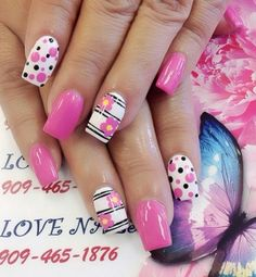 pink nail art designs for short nails - styles outfits Diy Valentine's Nail Art, Diy Valentine's Nails, Pink Nail Art, Fancy Nails, Trendy Nails, Toe Nails, Pastel Nail, Nail Nail, Nail Art Designs