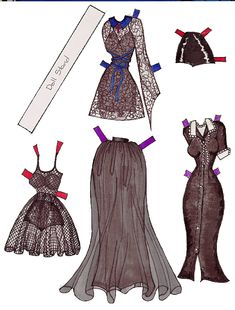 From the Wayback Machine (literally), the gothy paper dolls from the long-departed Blackened Angels clothing catalog. 1996, peeps.