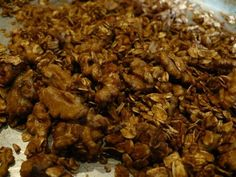 Homemade granola - replace sugar with agave nectar Best Granola, Agave Nectar, Brunch Recipes, Food And Drink, Yummy Food, Sugar, Healthy Recipes, Dessert, Foods