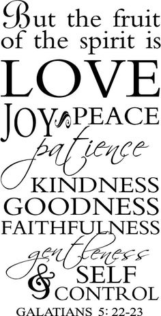 But The Fruit Of The Spirit Is Love Joy Peace by VinylLettering, $12.99