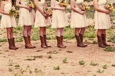 i like this, except my bridesmades will have camo dresses with fluorescent orange bows :)