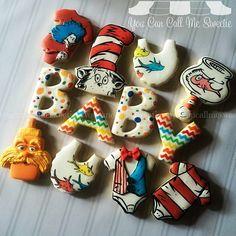 Dr. Seuss  Baby Shower Cookies