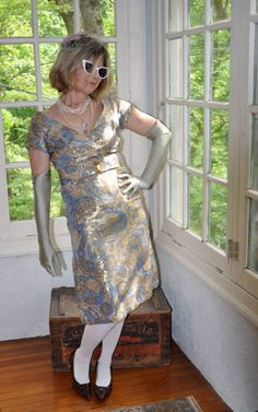 Luscious Lame Vintage 1960s Brocade Cocktail by LastDanceVintage, $65.00