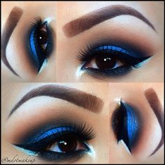 Blue is one of my faves, for the eyes..It brings out my brown so beautifully ;)
